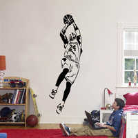 Kobe Bryant Wall Sticker Vinyl DIY Home Decor Basketball Players Wall Decals Sport Star For Kids Living Room 821