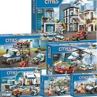 Nouveau poste de Police de la ville 60141 cadeaux de noël blocs de construction briques jouets pour enfants