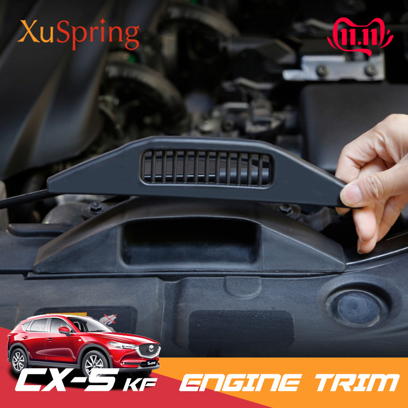 For <font><b>Mazda</b></font> CX-5 <font><b>CX5</b></font> <font><b>2017</b></font> 2018 2019 KF Car Engine Air Inlet Vent Protective Cover Trim Sticker Protective Styling <font><b>Accessories</b></font> image