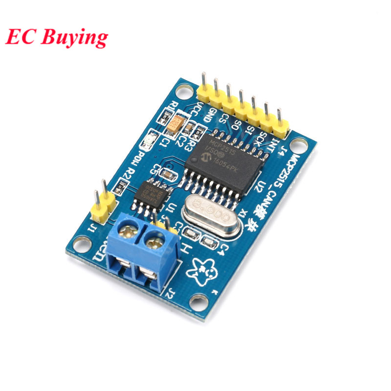 MCP2515 CAN Bus Driver Module Board TJA1050 Receiver SPI For 51 MCU ARM Controller Interface For Arduino Electronic DIY Kit image