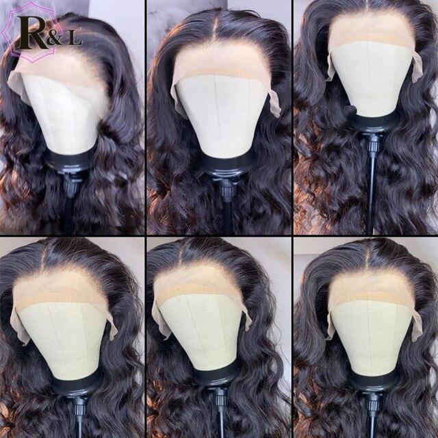 RULINDA-pelucas de cabello humano Remy brasileño, cabello con onda de encaje frontal, Color degradado, parte media prearrancada 5