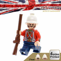 Begrenzte Anglo Zulu Krieg Soldaten Figuren Großbritannien Britischen Armee Infanterie MOC Nach Military Bausteine Ziegel Spielzeug