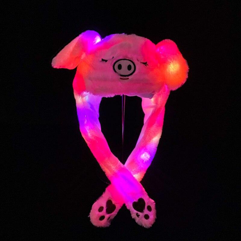 It Glows, Cute Airbag Cap Moves, Sleeps Pig Ear Cap.