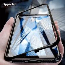 Luksusowe magnetyczne adsorpcja etui na telefony do Samsung Galaxy S9 S8 Plus uwaga 9 8 Metal magnes szkło hartowane etui z klapką Capinha
