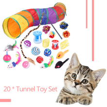 Molar-Toys Cat Pompom-Ball Interactive-Toy Pet-Teaser-Bell Sound Chew Puppy-Pet Dogs