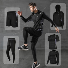 Men's sportswear compression suit training suits training jogging sports running workout gym tights dry fit plus size men s compression sportswear suits gym tights training clothes workout jogging sports set running tracksuit dry fit plus size
