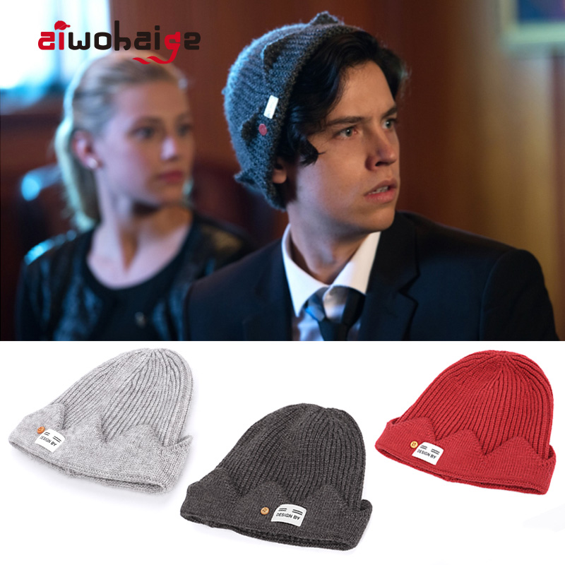 2019 New High Quality Winter Riverdale Jughead Jones Cosplay Knit Beanie Women Men Topic Exclusive Crown Hat Wool Soft Cap