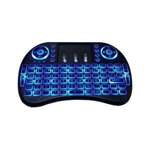 Image 3 - Bunte Backlit Russische Englisch Air Maus Mini Wireless Keyboard 2,4 GHz Touchpad Hintergrundbeleuchtung i8 Luft Maus für Android TV Box PC