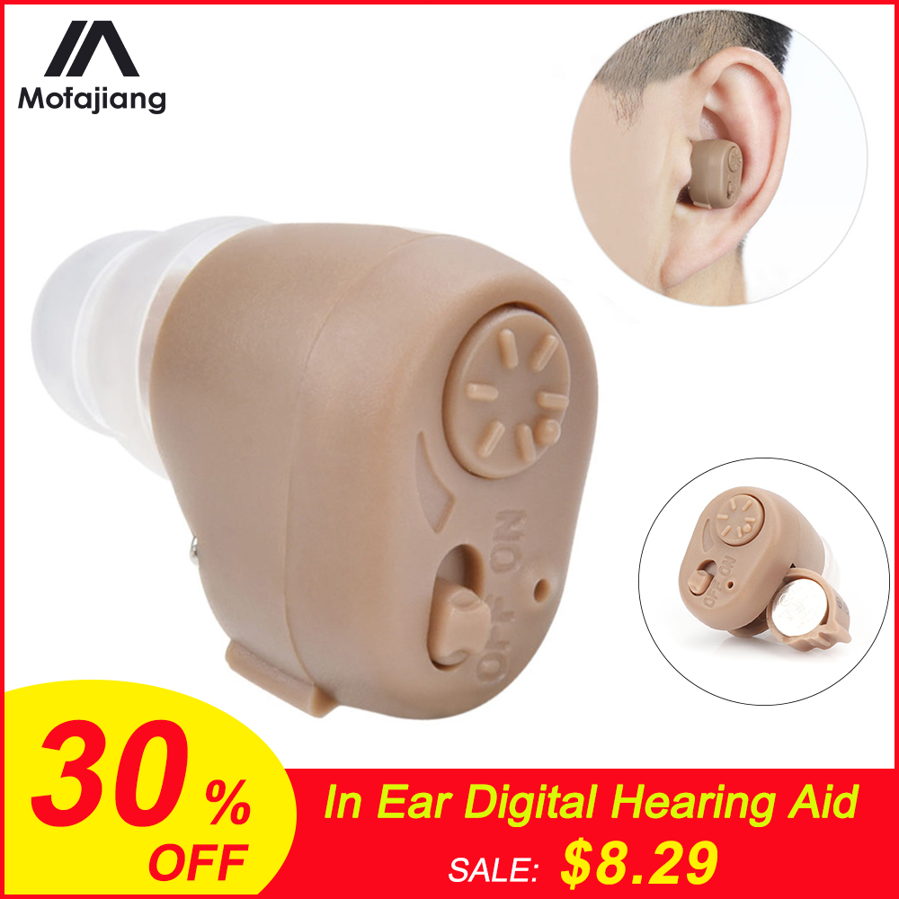 K-86 Hearing Aid Battery Mini Invisible In Ear Digital Adjustable Sound Enhancement Earplugs Sound Amplifier Ear Care Tool