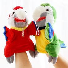 Simulation Soft Bird Parrot Plush Sleeve Hand Puppet Stuffed Doll Toy Kids Gift