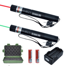 Green Laser Sight & Red Laser 303 Pointer Light 532nm 5mw High Power Device Lazer laser Pen Burning with battery