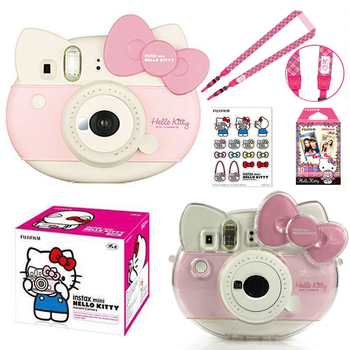 Fujifilm Instax Mini Pink Hello Kitty Limited Edition Instant Photo Film Camera + 10 Instax Films + PU Camera Bag Case + Sticker 1