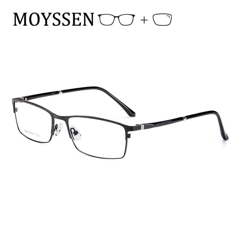 Classic Formal Business Men Prescription Glasses Big Optical Metal Rectangular Myopia Presbyopia Progressive Eyeglasses For Male