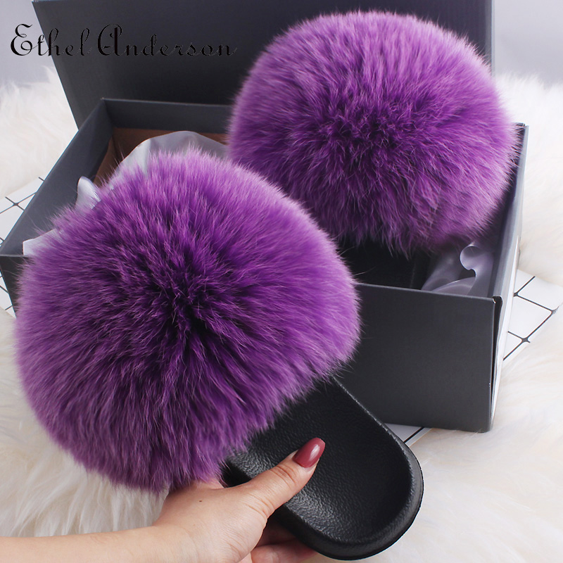 Grape purple Fox Fur