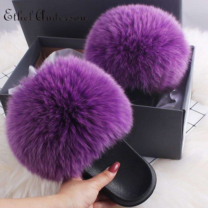 Grape purple Fox Fur