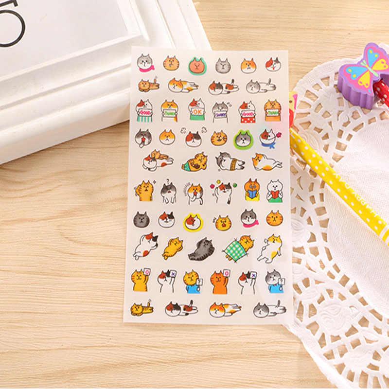 6 قطعة/الوحدة لطيف Kawaii ملصقات البلاستيكية الكرتون القط ورقة لاصقة للأطفال هدية Diy بها بنفسك سكرابوكينغ ملصقات مذكرات Ablum القرطاسية