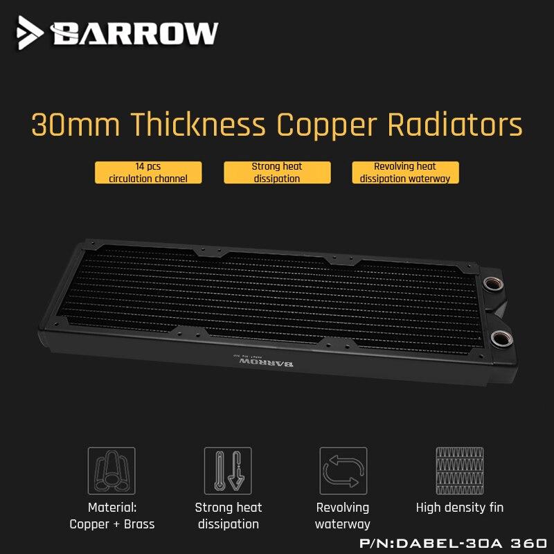 Brouette Dabel-30a 360 cuivre radiateur 30mm épaisseur 14 pièces canal de Circulation adapté aux ventilateurs de 120mm