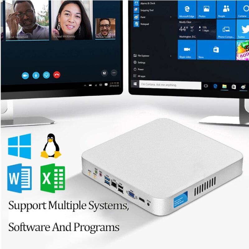 XCY Mini PC computer Intel Core i7 7500U i5 7200U 3317U Processor windows 10 pro linux Gaming PC 4K UHD HTPC VGA WiFi Desktop pc 4