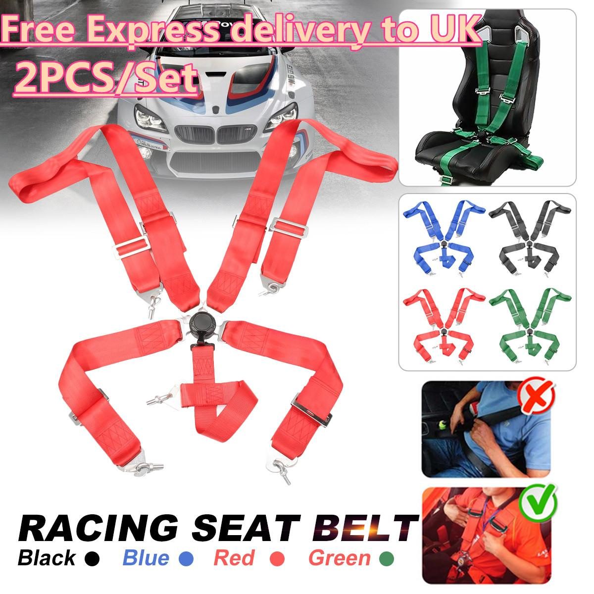 Auto Car Sports Racing Harness Safety Seat Belt 4 5 6 Point Fixing Mounting Quick Release Adjustable Strap Nylon Harness