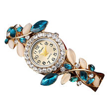 Часы наручные lvpai Женские с браслетом модные роскошные листьями