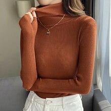 Shintimes 2020 теплые вязаные женские водолазки свитера пуловеры
