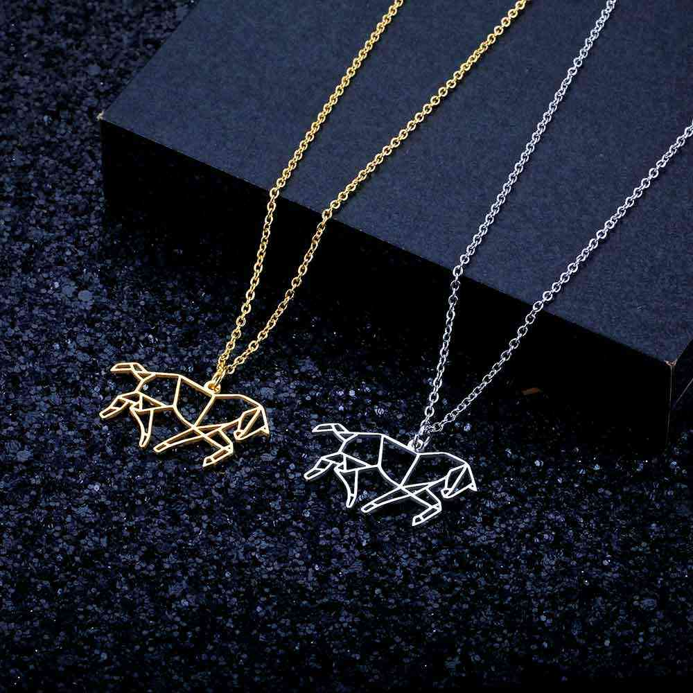 Running Horse Necklace LaVixMia Italy Design 100% Stainless Steel Necklaces for Women Super Fashion Jewelry Special Gift