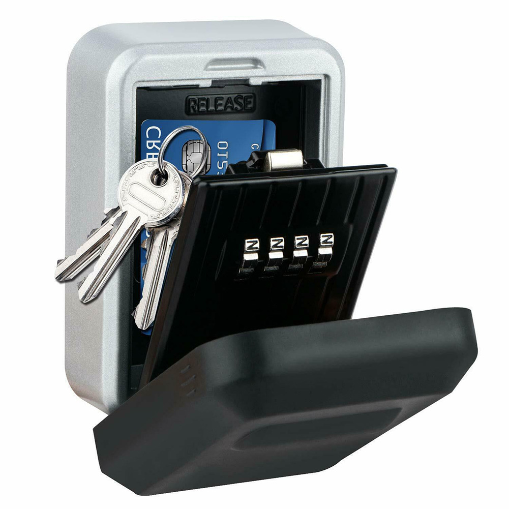 Key Lock Box With Waterproof Case Security Box Wall Mount Metal Password Box For Home Business Realtors Outdoor Indoor
