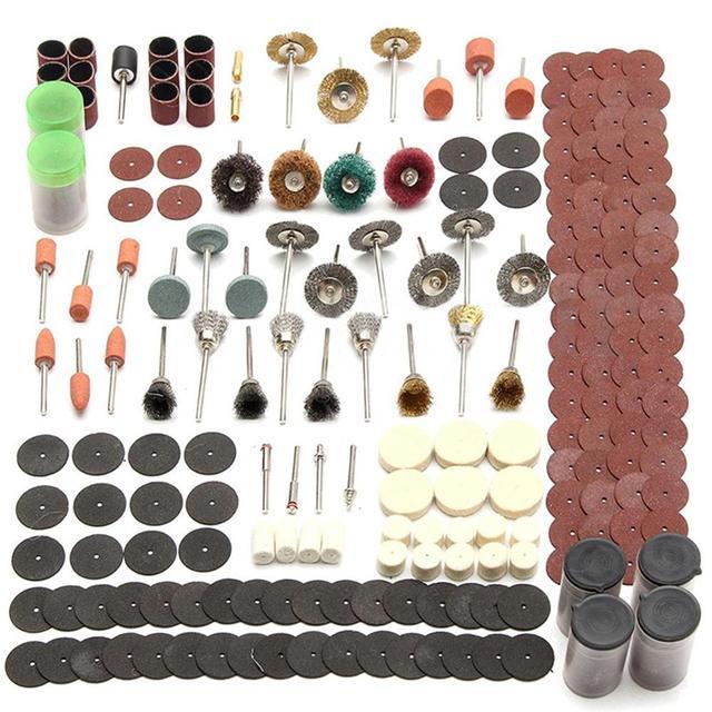 343 Pcs Schuren Disc Bit Set Mini Boor Rotary Tool Fit Dremel Slijpen, Carving, polijsten Tool Sets Elektrische Grinder Accessoires