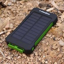 10000 мАч солнечная батарея портативная солнечная панель питания зарядное устройство аварийный внешний аккумулятор водонепроницаемый для мобильного телефона iphone samsung