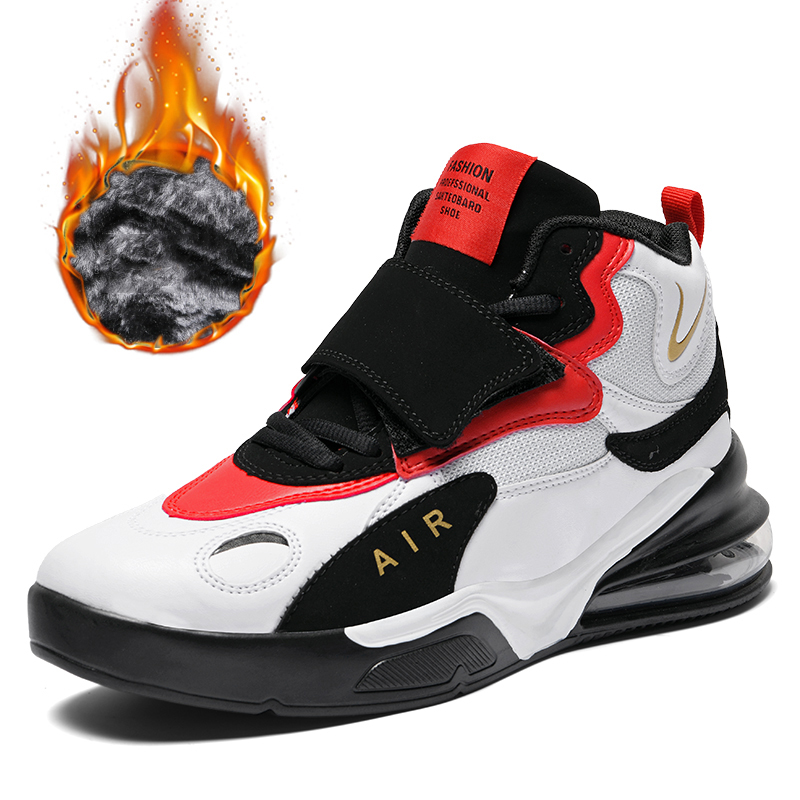 Men Women Cushioning Sport Basketball Shoes Outdoor Shockproof Basketball Sneakers High top Athletic Basketball Boots Man Unisex|Basketball Shoes| |  - title=