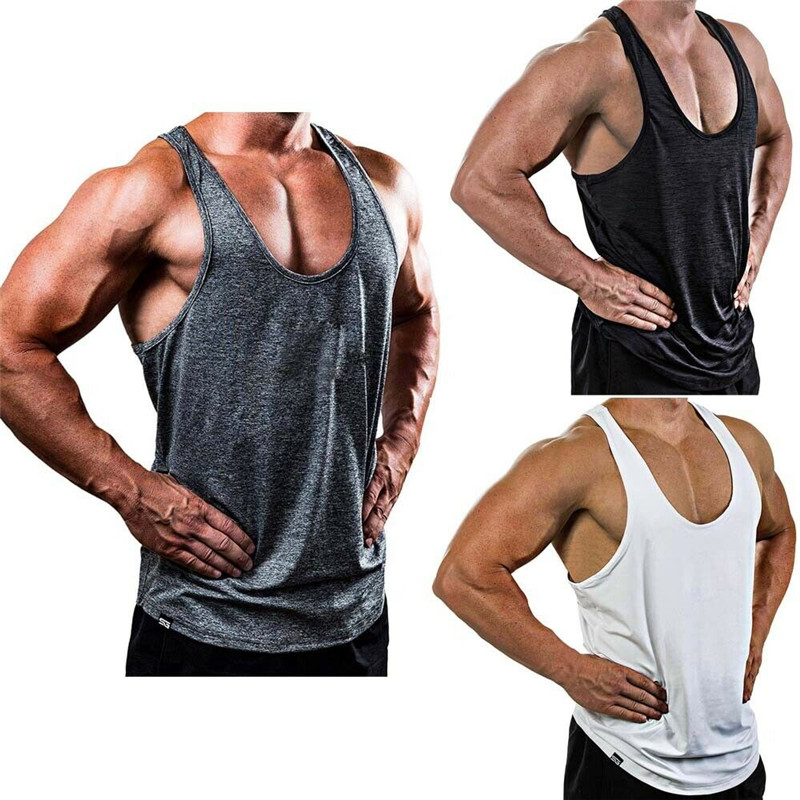 Mens Gym   Tank     Tops   Muscle Stringer Bodybuilding Workout Gym Shirts Singlet Training Bodybuilding   Tank   Vest Sleeveless Fitness