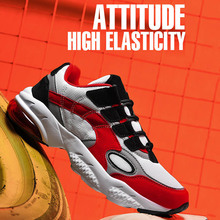 2020 Stylish Men Running Shoes Ultra-Stretch Cushioning Air Cushion Sneakers Breathable Non-Slip Mesh Sports Walking Fashion