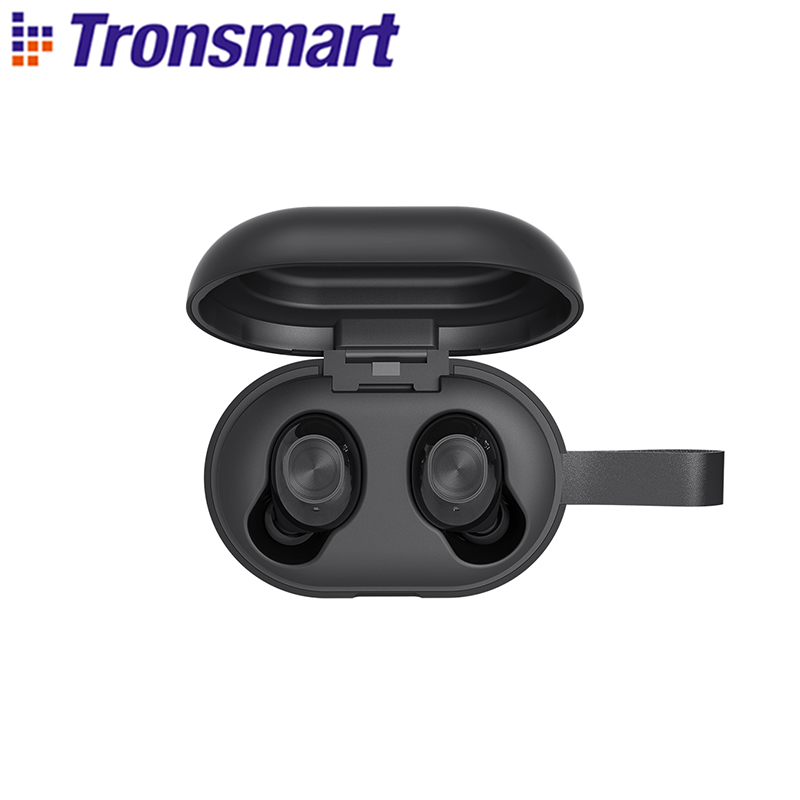 [Newest Version] Tronsmart Spunky Beat Bluetooth TWS Earphone APTX Wireless Earbuds with QualcommChip, CVC 8.0, Touch Control(China)
