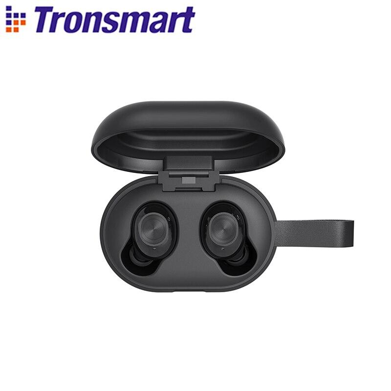 Tronsmart Corajosa Bater Bluetooth APTX Fones de Ouvido Sem Fio do Fone de ouvido com QualcommChip TWS, CVC 8.0, Controle do Toque, Assistente de Voz