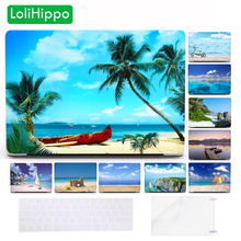 LoliHippo Beach Sea Laptop Hard Case for Apple MacBook Air Pro 13.3 15 Inch Retina Touch Bar A1466 A1932 Blue Sky Notebook Cover