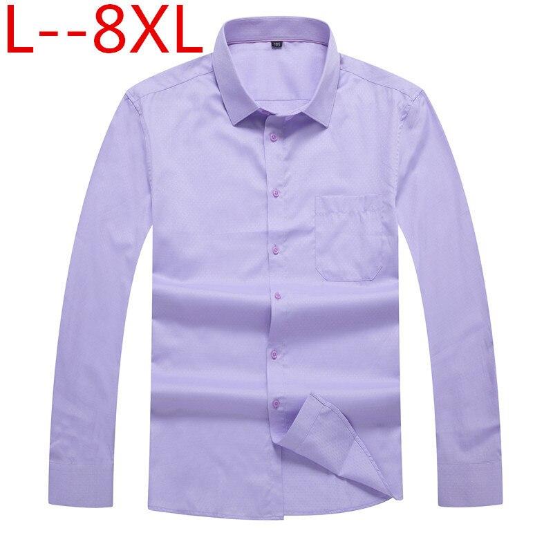 Plus 10xl 8xl 6xl 5xl Spring Autumn Cotton Shirts Casual Shirt Loose Fit Social Shirts Solid Shirt Men Long Sleeve Dress Shirts