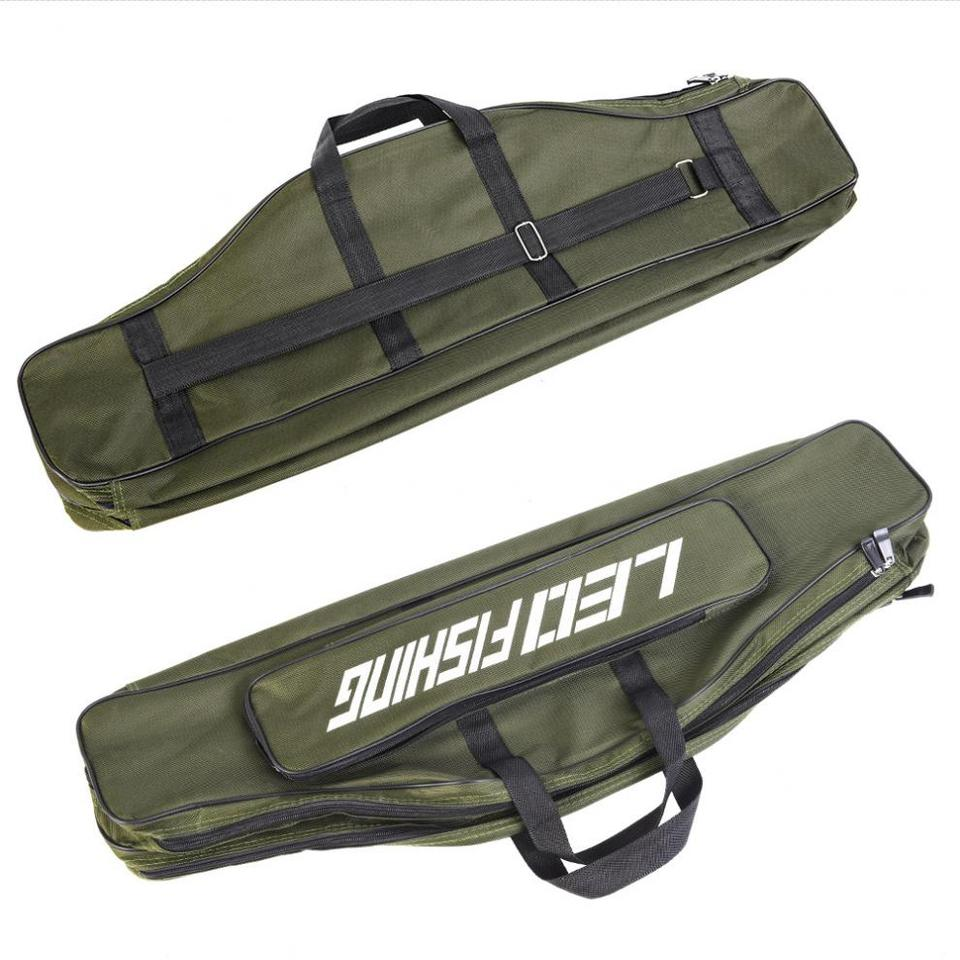 80cm Oxford Cloth Double Layer Large Capacity Collapsible Fishing Rod Bags Case