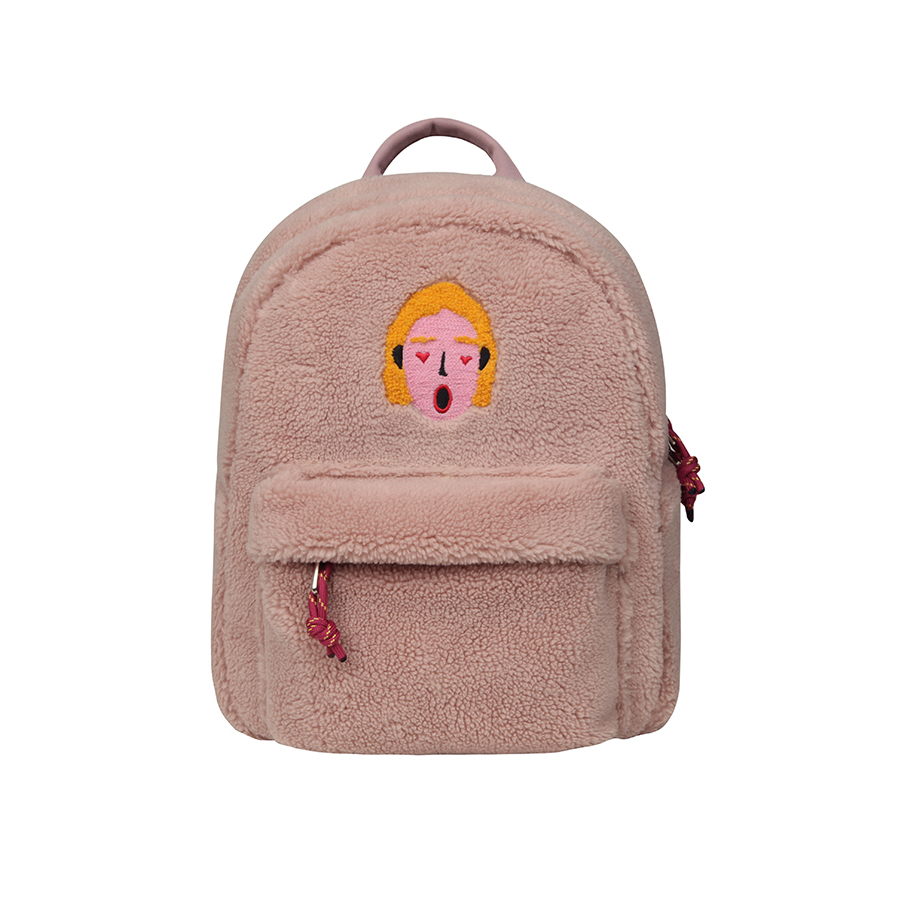 [New Arrival For Fall&Winter]2019 10inch Original Creative Fleece Mini Backpack Travel Bags For Boys And Girls  (FUN KIK Store)