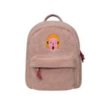 [Nueva llegada para otoño e invierno] 2019 10 pulgadas original creativo fleece mini mochila bolsas de viaje para niños y niñas (FUN KIK store)