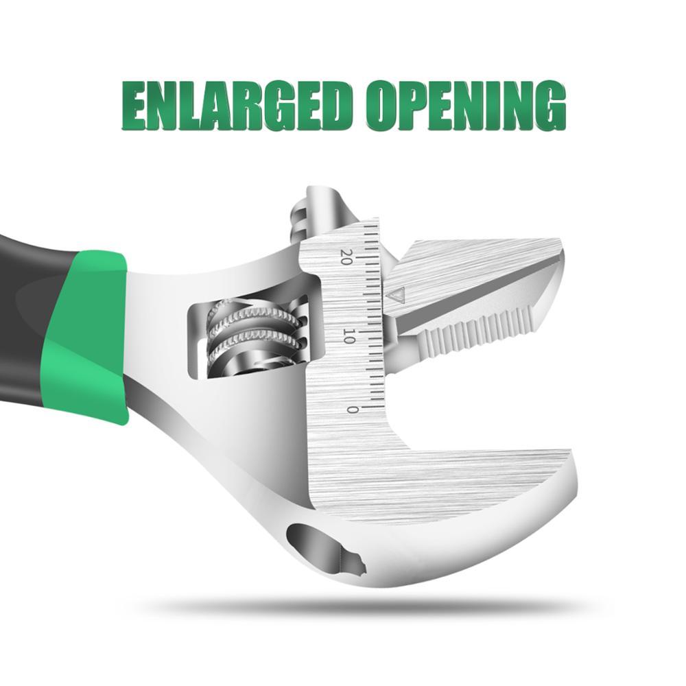 Large Opening Short Handle Adjustable Spanner Short Adjustable Spanner Small Multifunctional Bathroom Spanner Tool