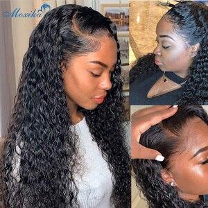 Image 2 - Moxika onda de água pacotes com fecho 3 pçs cabelo brasileiro tecer pacotes com fechamento remy feixes de cabelo humano com fechamento