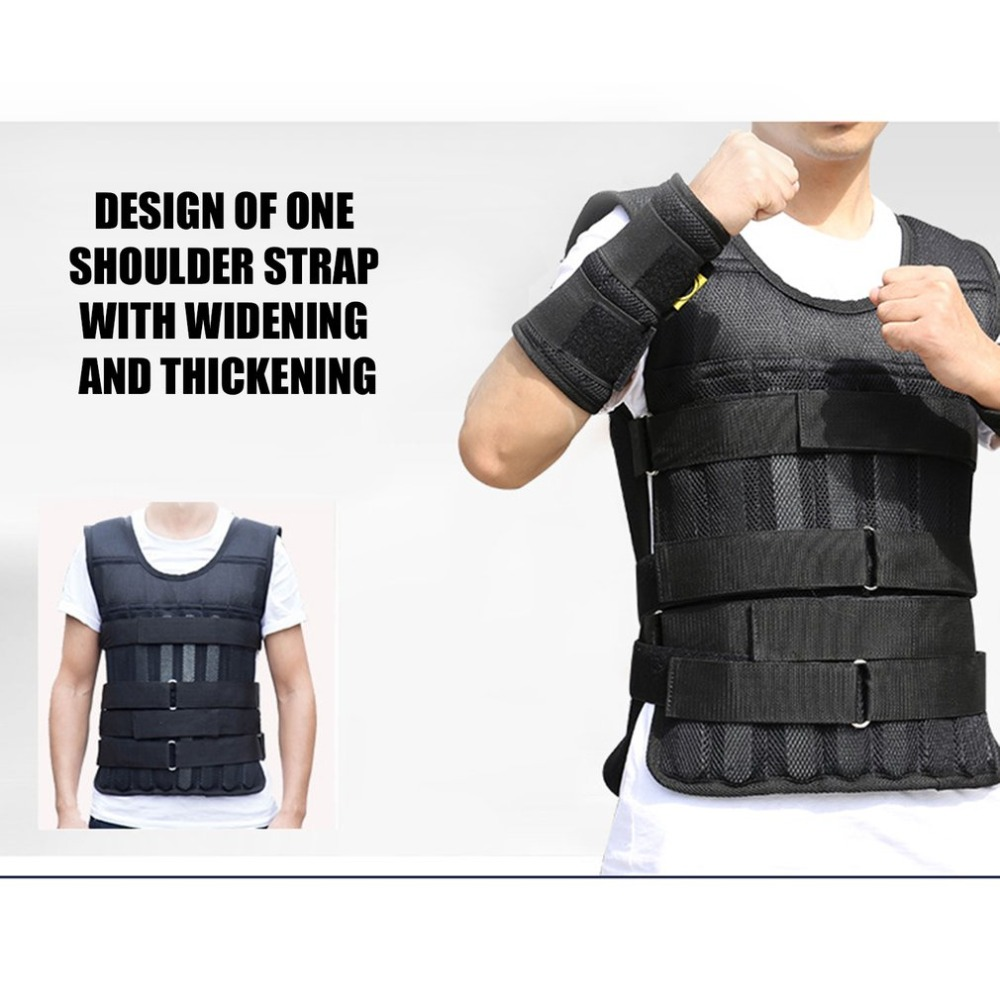 Adjustable Weighted Vest Ultra Thin Breathable Workout Exercise Carrier Vest For Training Fitness Weight-bearing Equipment