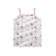 Sports Bra T-Shirt Vest Underwear Tops Girls Kids Cotton Children Cartoon 5pc/Lot 2-10years