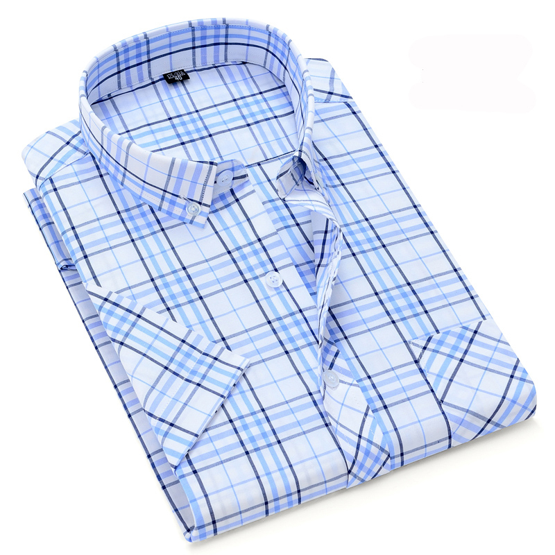 Fashion Mens Button Up Summer Casual Shirt Short sleeve Business Dress Shirts