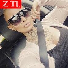 ZT Retro Oversize Women Square Sunglasses Brand Designer Classic Summer Style Double Colors Flat Top Frame Gradient Eyewear