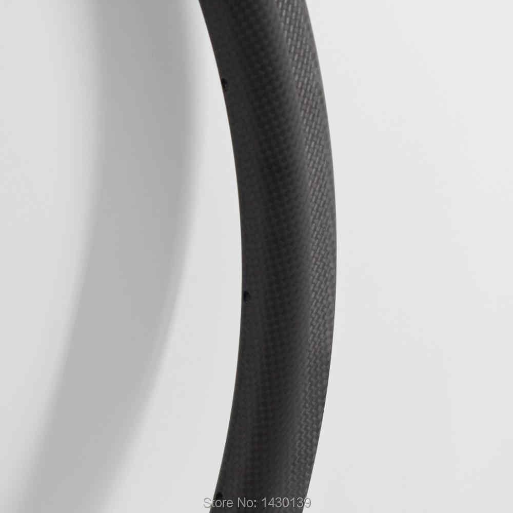 Le plus nouveau 700C 30mm pneu jantes vélo de route mat 3K UD complet en fibre de carbone vélo roues jantes en carbone le plus léger 25mm largeur livraison gratuite