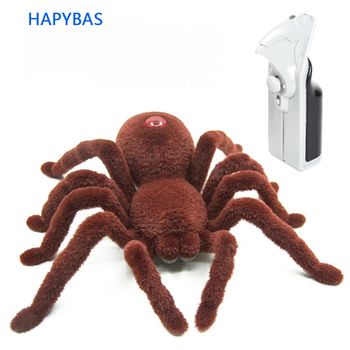 New Halloween Simulation Remote Control 11 2CH Infrared Realistic RC Spider Toy Prank Gift new remote control scary creepy simulation realistic spider 2 channel infrared rc model toy prank kid gift fswob