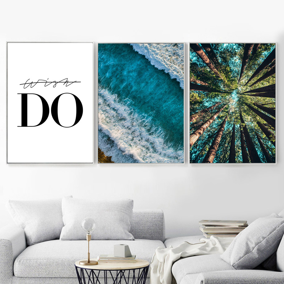 Green Forest Fireworks Wall Art Print Canvas Painting Nordic Canvas Posters And Prints Landscape Wall Pictures For Living Room in Painting Calligraphy from Home Garden