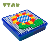 Toys 3D Puzzle Game Jigsaw Peg Colorful Puzzle Board Baby Educational Learning Toys for Kids Children mosaic puzzle