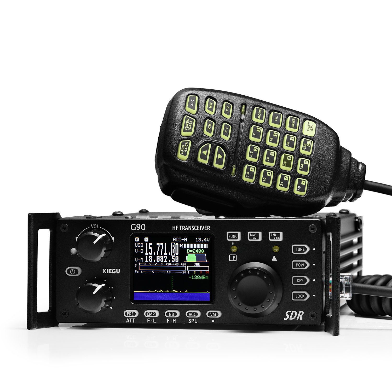 XIEGU G90 QRP HF Transceiver 20W SSB CW AM FM  Amateur Radio 0.5-30MHz SDR Structure With Built-in Auto Antenna Tuner GSOC